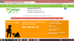 debito do governo federal com IG MIRI